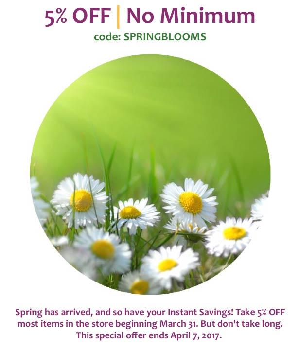 5% OFF - No Minimums - Spring Blooms Special